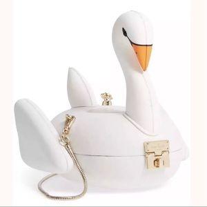 KATE SPADE Checking In 3D Swan Pool Float Bag